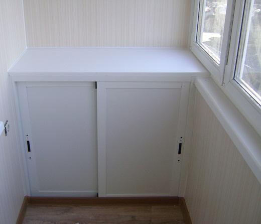 На рисунке балконный шкаф из пластика